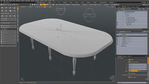MODO 12.1 :: MESH OPS | MERGE POLY