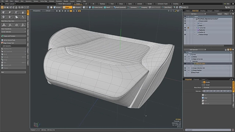 MODO 12.1 :: MESH OPS | EDGES TO CURVES